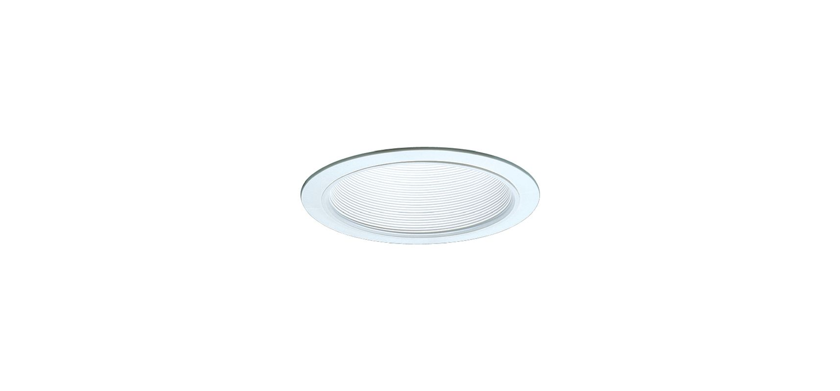 "Elco ELM40 6"" Recessed Lighting Trim - Metal Stepped Baffle White"