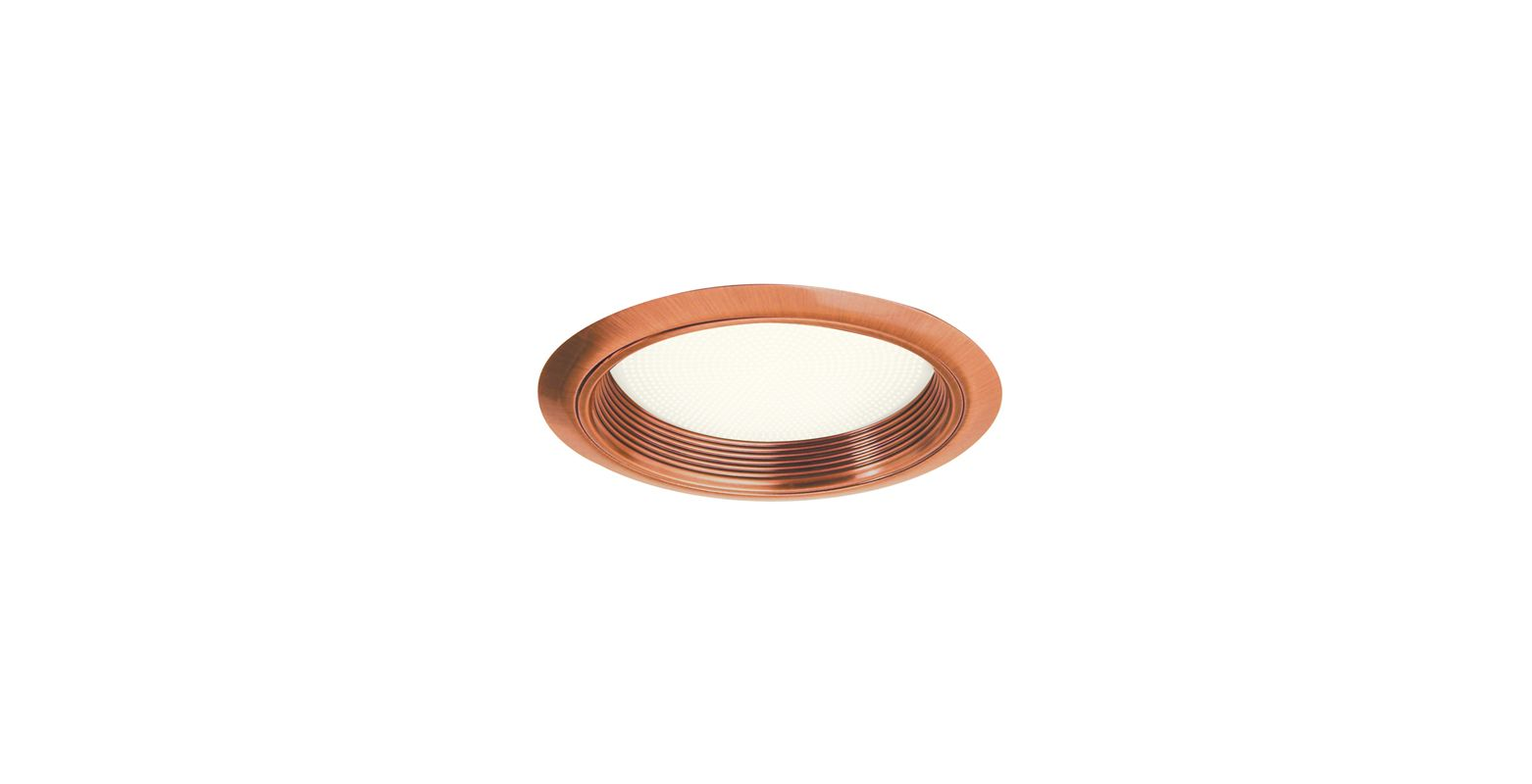 """Elco ELM42 6"""" Baffle with Regressed Alabalite Lens Copper Recessed"""