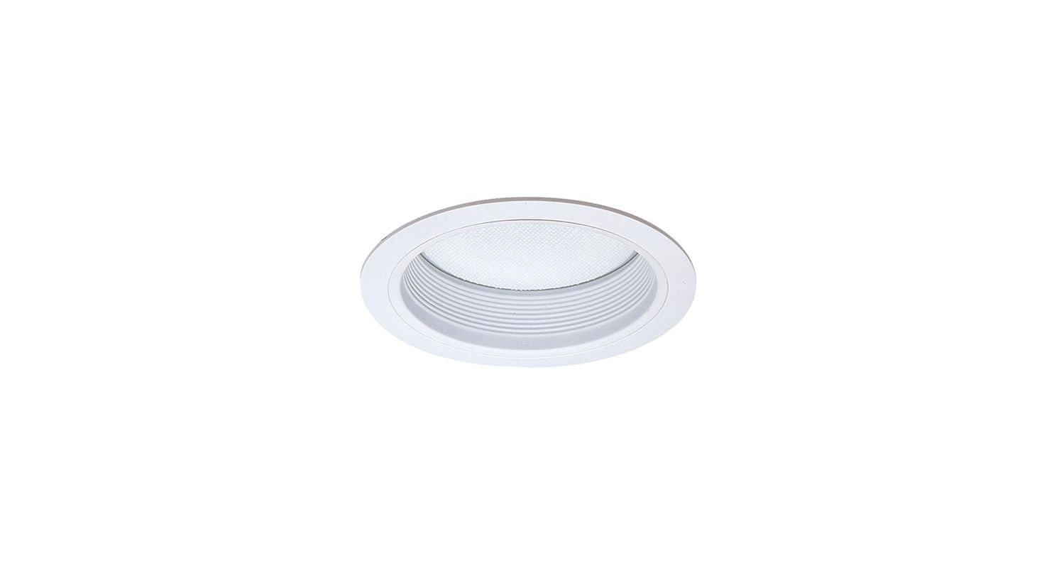 """Elco ELM42 6"""" Baffle with Regressed Alabalite Lens White Recessed"""