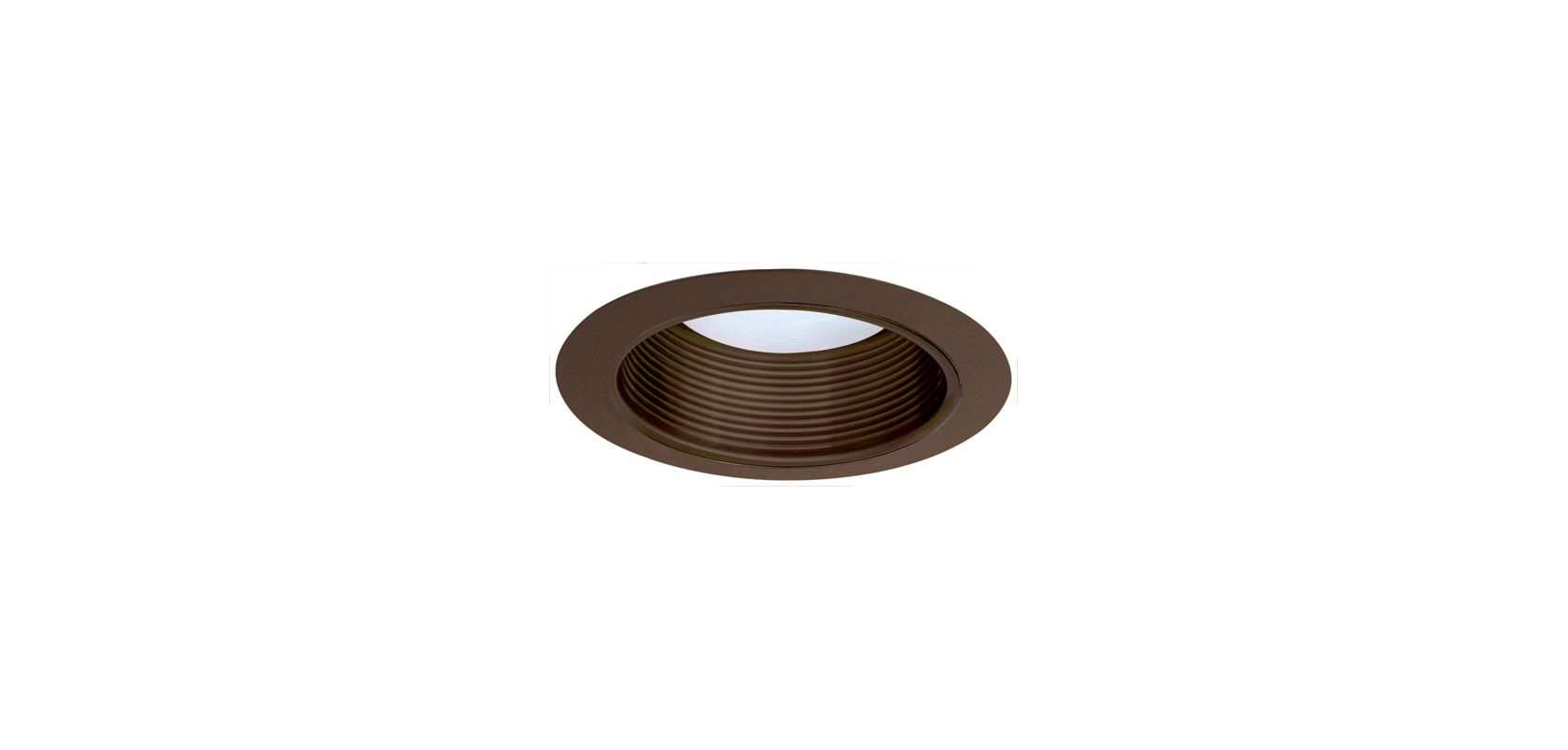 "Elco ELM530 5"" Metal Stepped Baffle Bronze Recessed Lights Baffle"