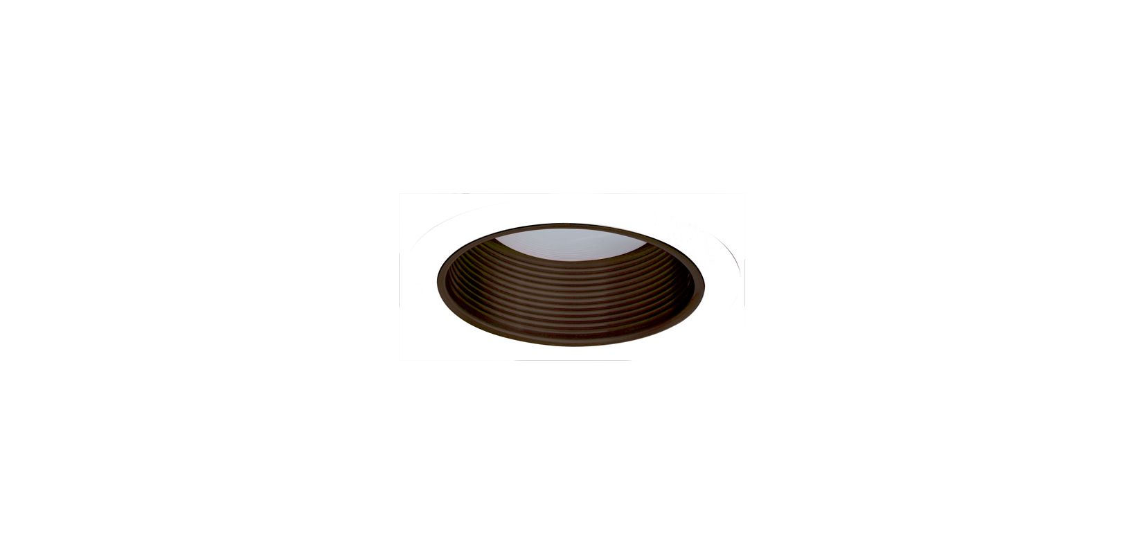 "Elco ELM530 5"" Metal Stepped Baffle Bronze / White Recessed Lights"