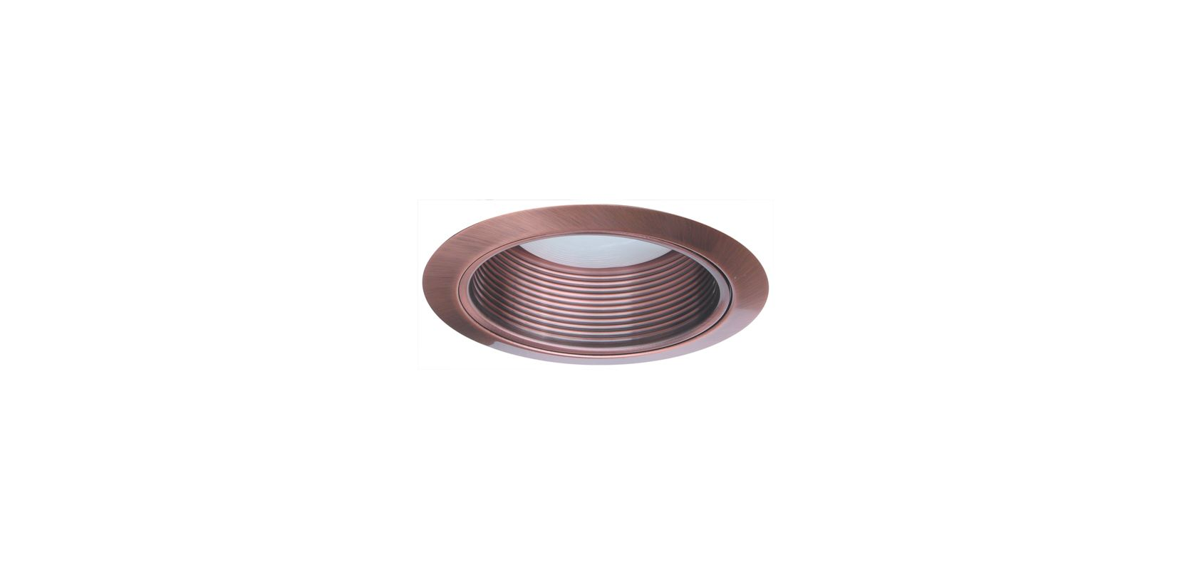 "Elco ELM530 5"" Metal Stepped Baffle Copper Recessed Lights Baffle"