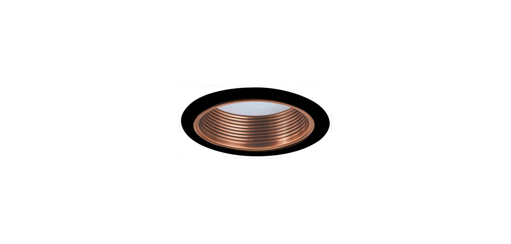 "Elco ELM530 5"" Metal Stepped Baffle Copper / Black Recessed Lights"