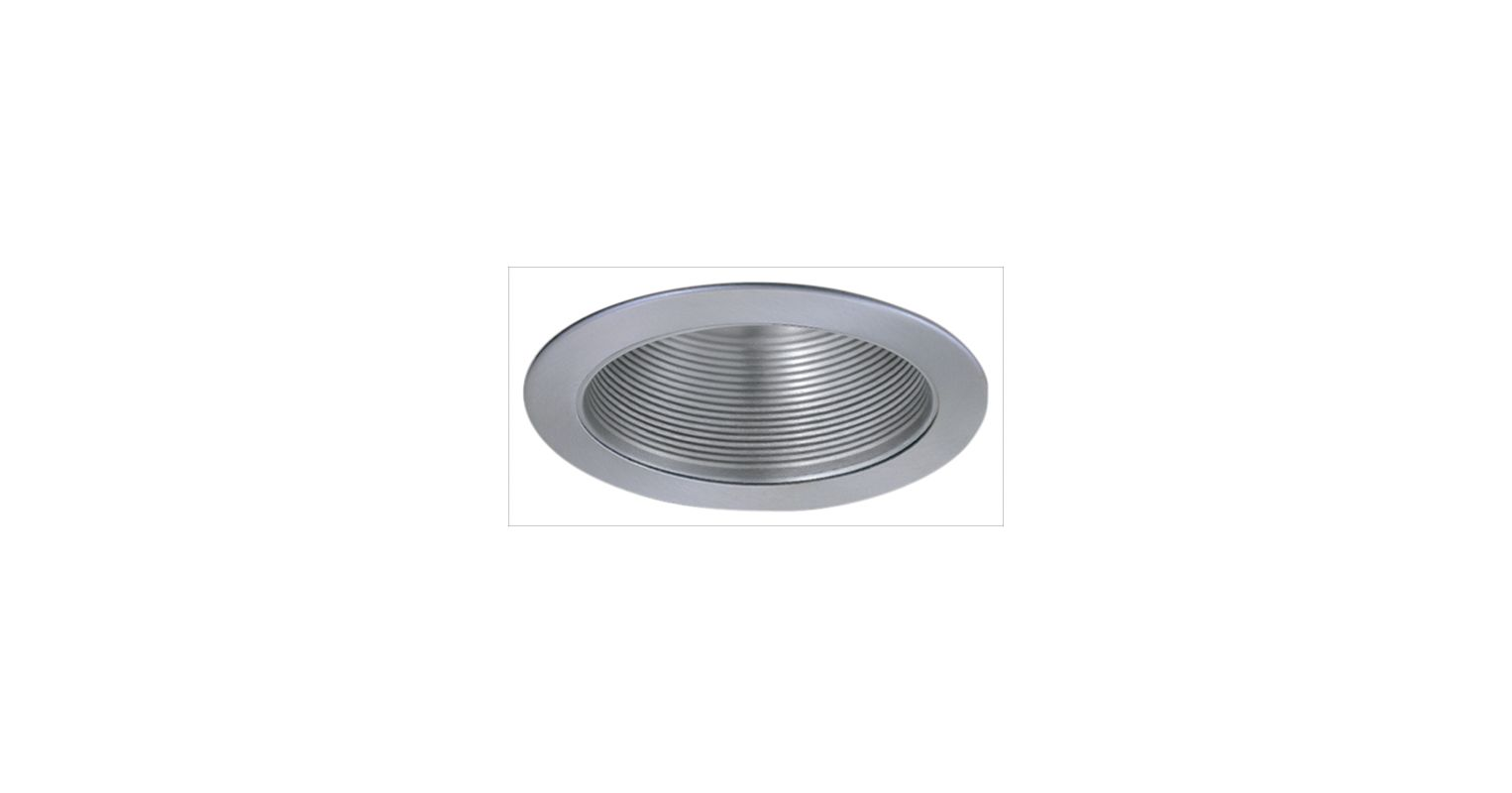 "Elco ELM530 5"" Metal Stepped Baffle Nickel Recessed Lights Baffle"