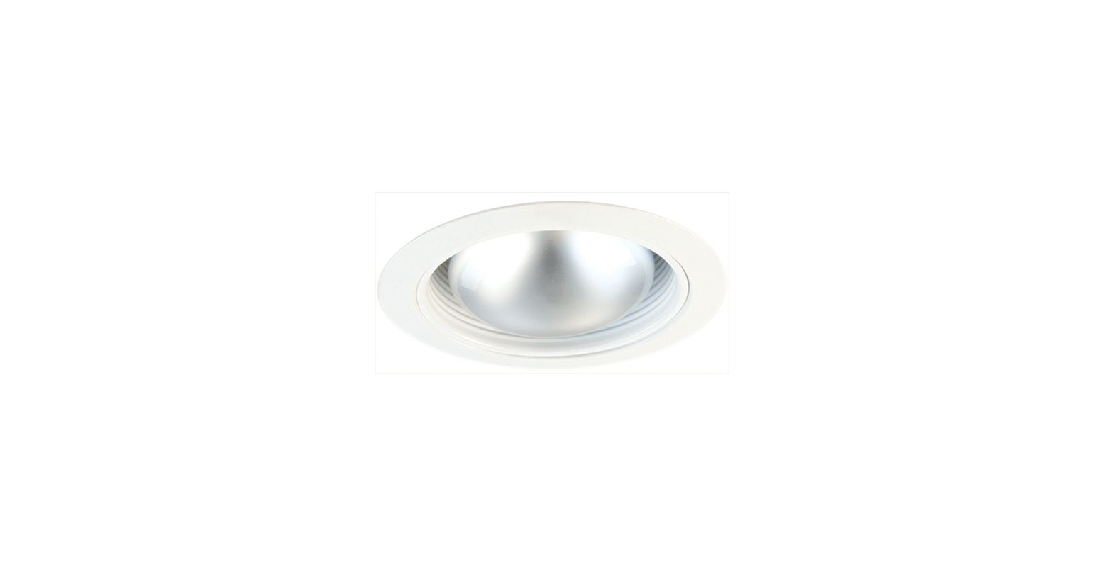 "Elco ELM530 5"" Metal Stepped Baffle White Recessed Lights Baffle Trims"