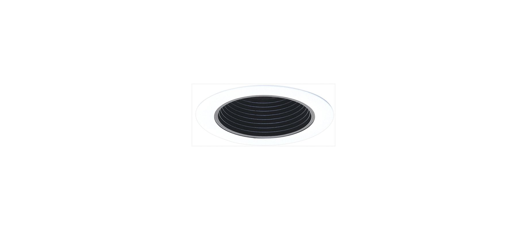 "Elco ELP530 5"" Phenolic Baffle Black / White Recessed Lights Baffle"