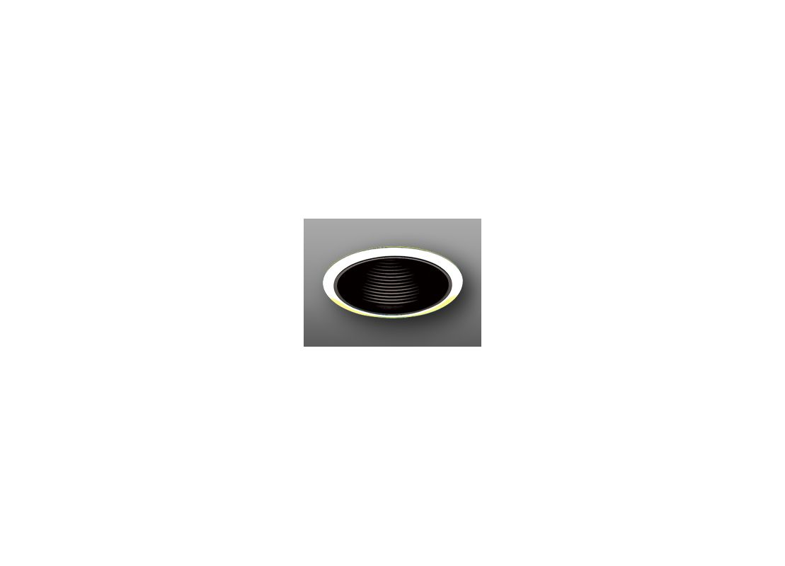 "Elco ELP530 5"" Phenolic Baffle Black / Gold Recessed Lights Baffle"