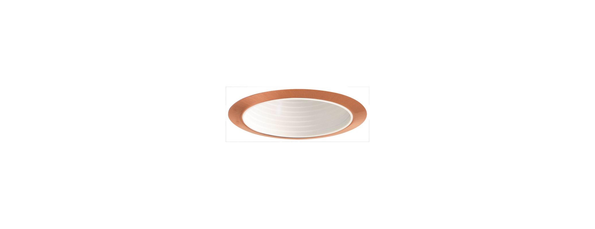 "Elco ELP530 5"" Phenolic Baffle White / Copper Recessed Lights Baffle"