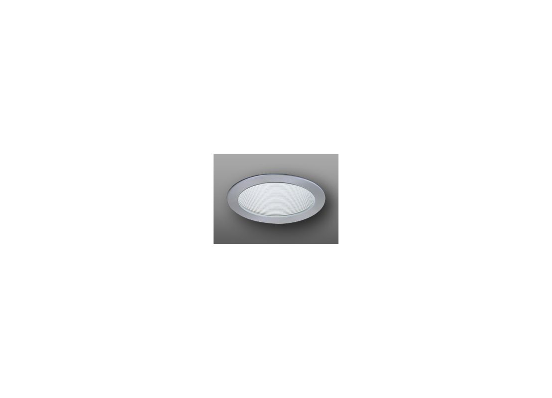 "Elco ELP530 5"" Phenolic Baffle White / Nickel Recessed Lights Baffle"