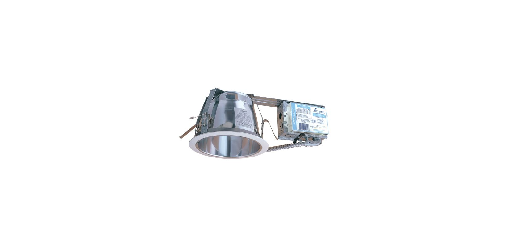 "Elco ELRH218DX 7"" 18W Two Light Horizontal Remodel CFL Downlight with"