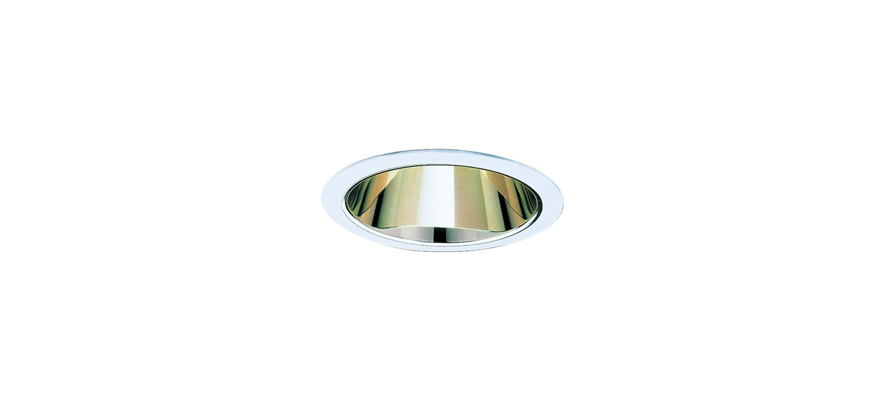 "Elco ELS30 6"" Reflector Trim for 75W Bulbs Gold / White Recessed"