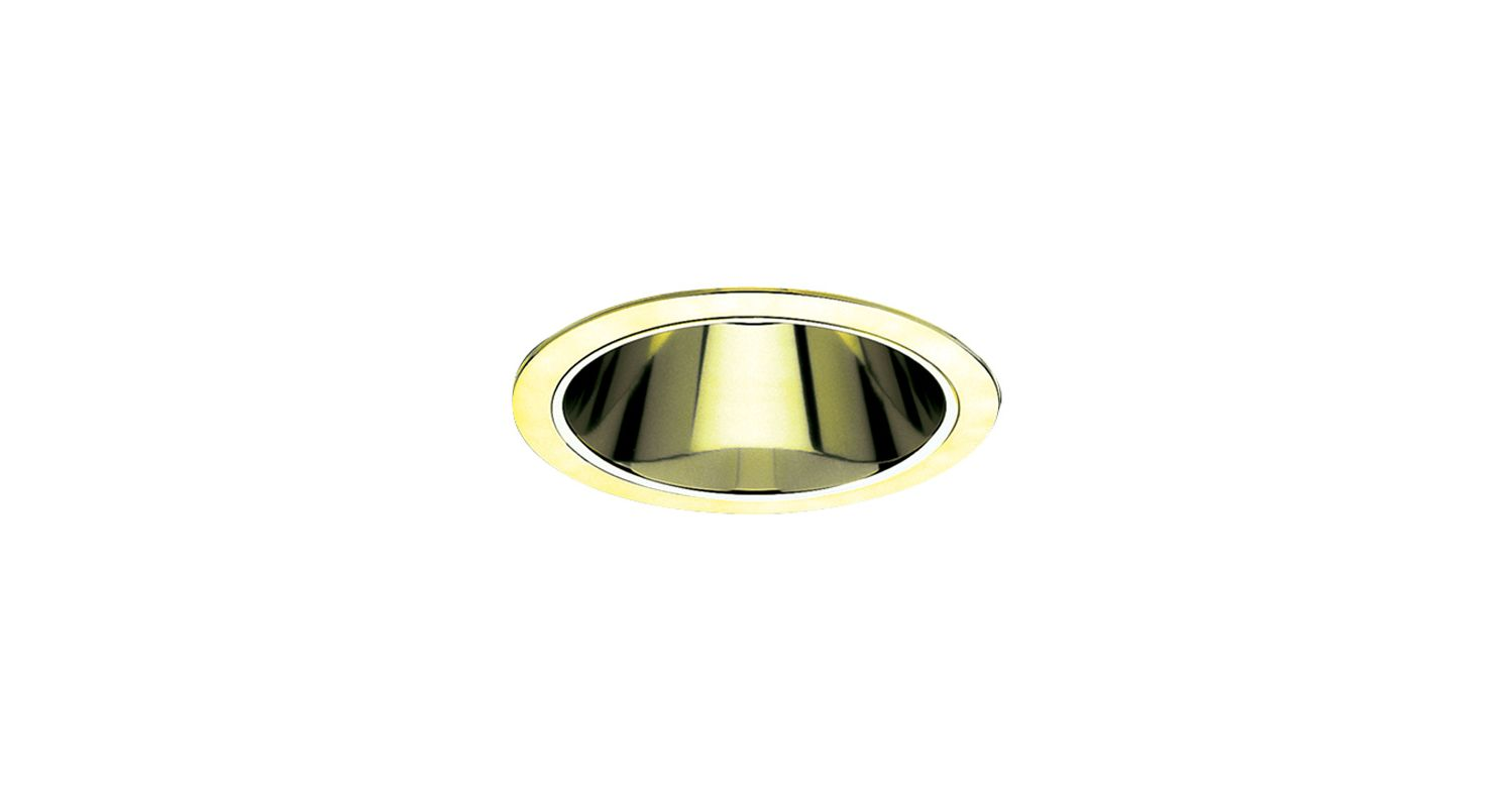 "Elco ELS30 6"" Reflector Trim for 75W Bulbs Gold Recessed Lights"