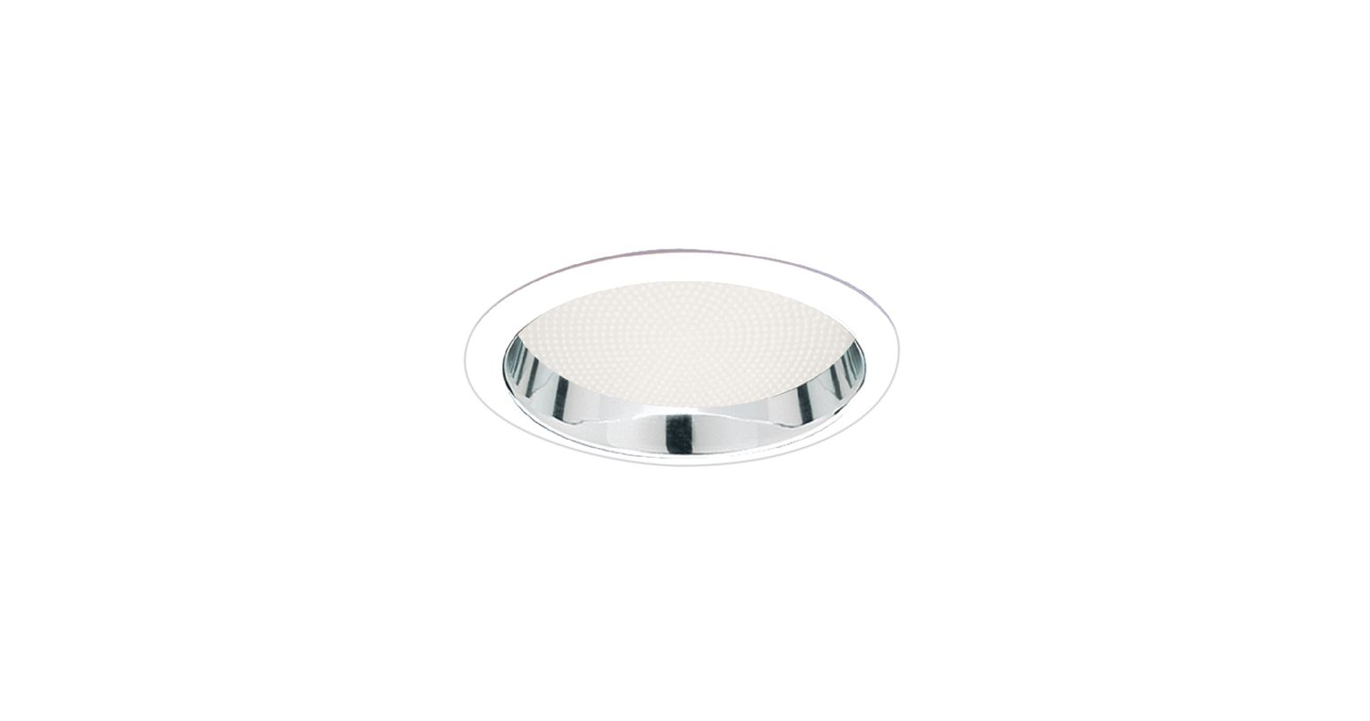 "Elco ELS42 6"" Reflector with Regressed Albalite Lens Clear / White"