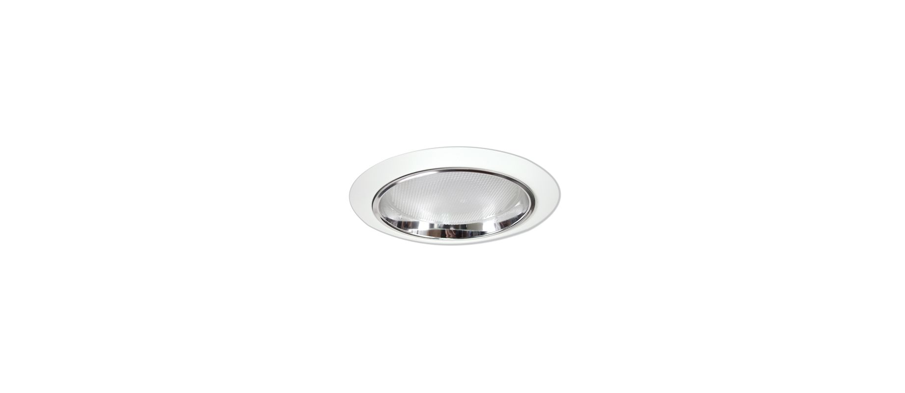 "Elco ELS542 5"" Regressed Albalite Lens and Reflector Clear / White"
