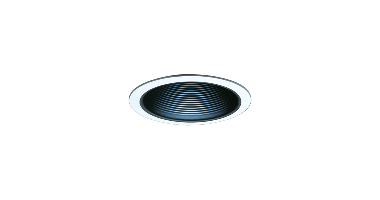 "Elco ELM30 6"" Recessed Lighting Trim - Metal Baffle Black Recessed"