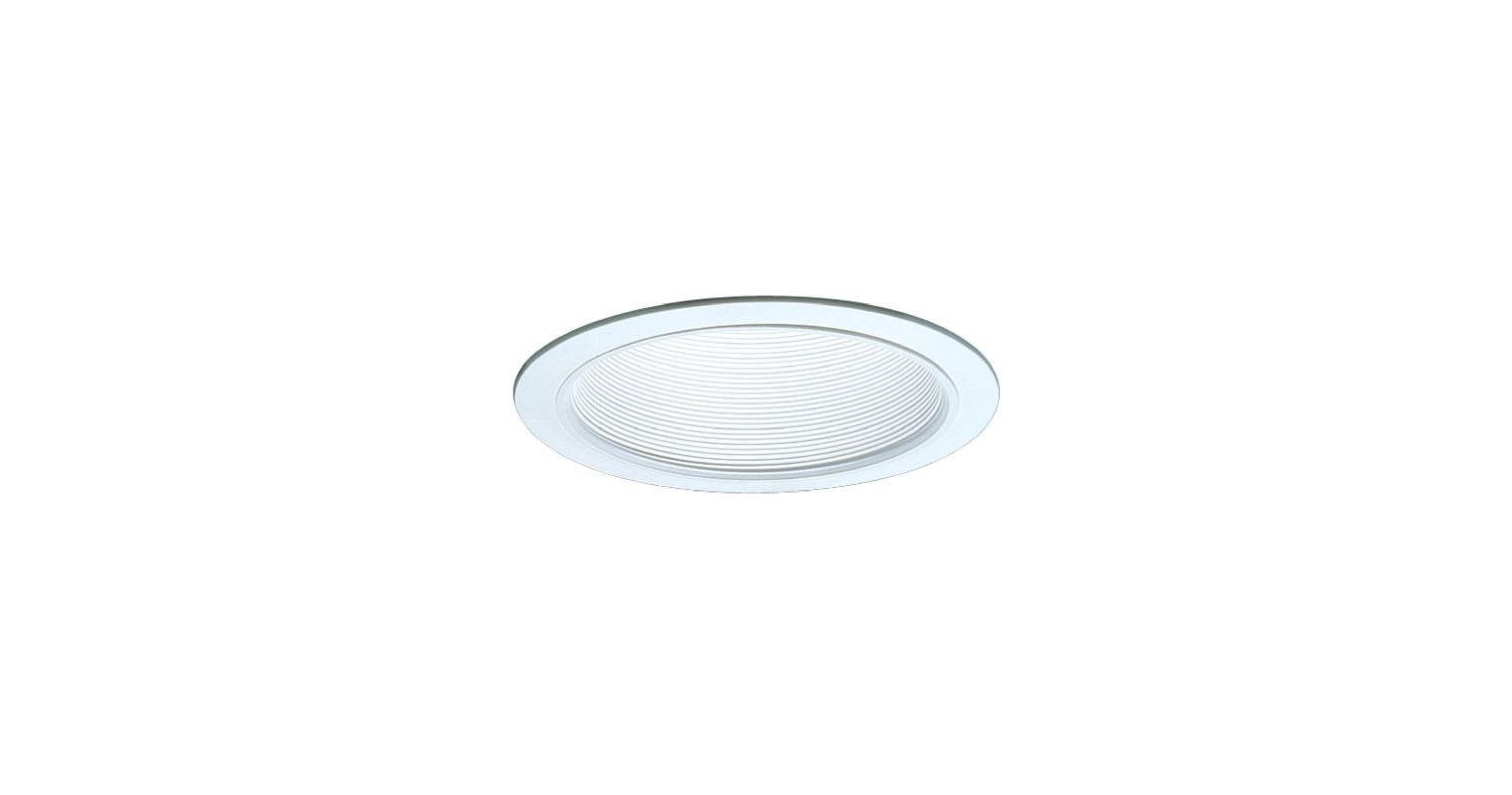 "Elco ELM30 6"" Recessed Lighting Trim - Metal Baffle White Recessed"