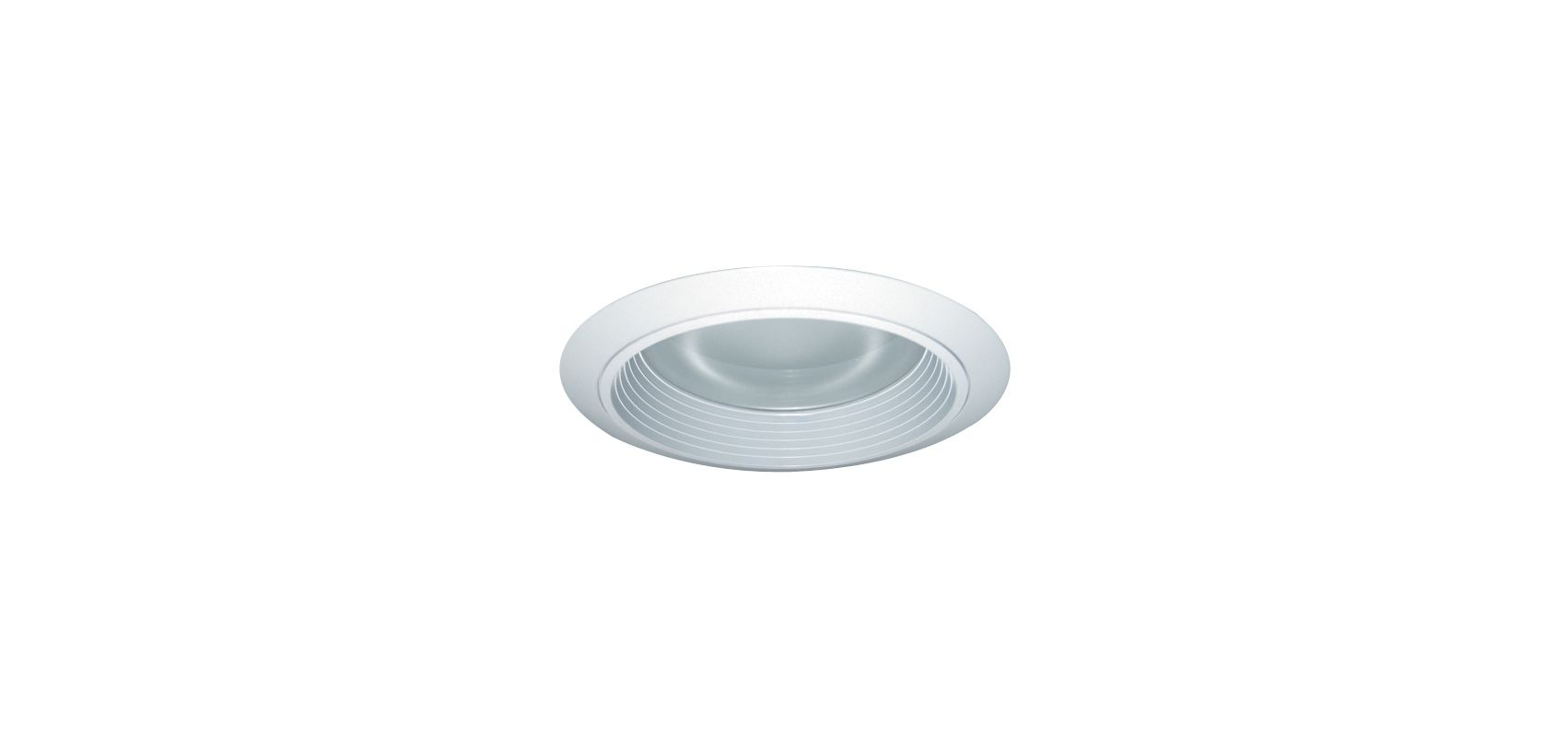 "Elco ELM422 6"" CFL Baffle with Regressed Frosted Lens White Baffle"
