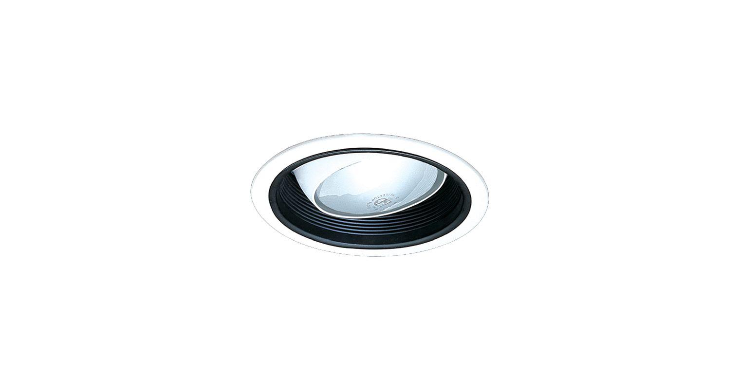 "Elco ELM48 6"" Regressed Eyeball with Baffle Trim Black Recessed Lights"