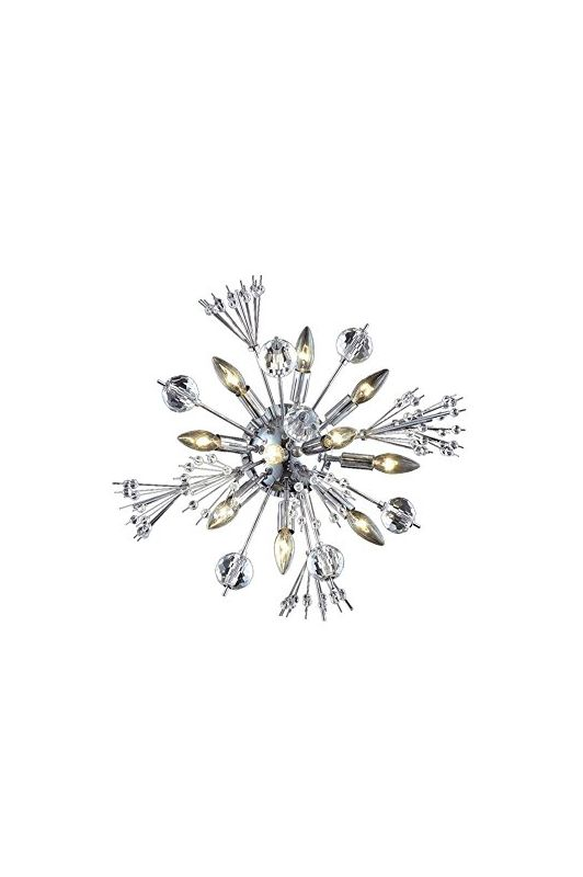 Elegant Lighting 3400W20C Cyclone 10-Light Crystal Wall Sconce