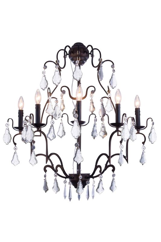"Elegant Lighting 1132W28 Charlotte 28"" Wide 5 Light Wall Sconce from"