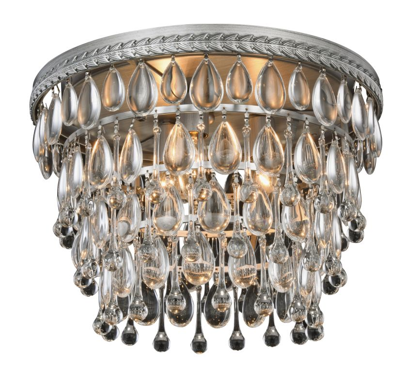 "Elegant Lighting 1219F15 Nordic 3 Light 15"" Wide Flush Mount Ceiling"
