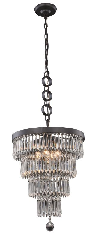 "Elegant Lighting 1220D15 Bastille 4 Light 15"" Wide Pendant with"