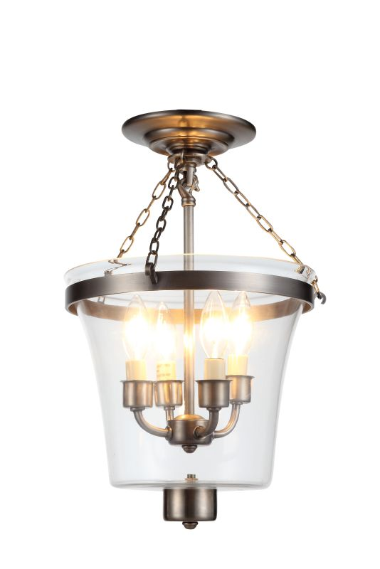 "Elegant Lighting 1423F12 Seneca 12.5"" Wide 4 Light Semi-Flush Mount"