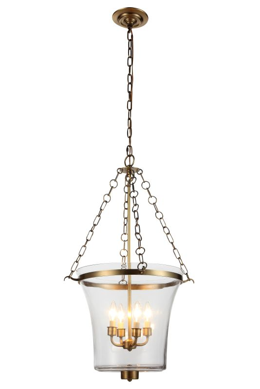 "Elegant Lighting 1423F19 Seneca 19.5"" Wide 4 Light Pendant from the"