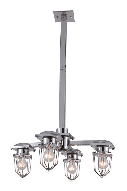 """Elegant Lighting 1451D24 Kingston 23.5"""" Wide 4 Light Pendant from the"""