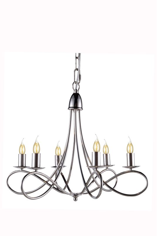 "Elegant Lighting 1452D22 Lyndon 24"" Wide 6 Light Chandelier from the"