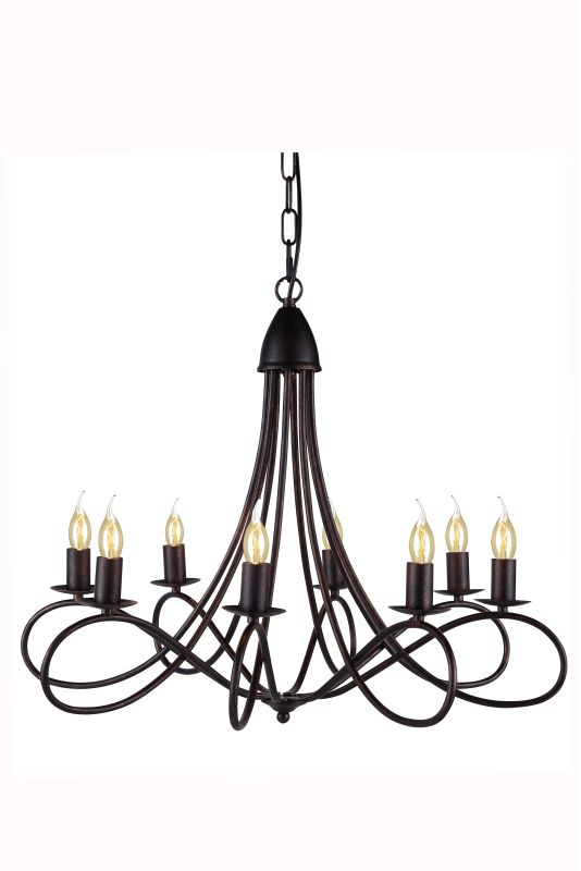 "Elegant Lighting 1452D28 Lyndon 28"" Wide 8 Light Chandelier from the"