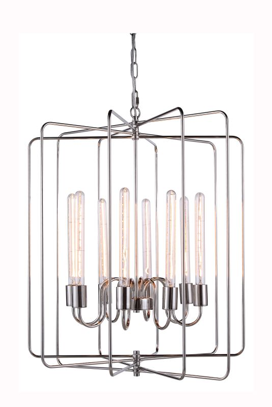 "Elegant Lighting 1454D25 Lewis 25"" Wide 8 Light Chandelier from the"