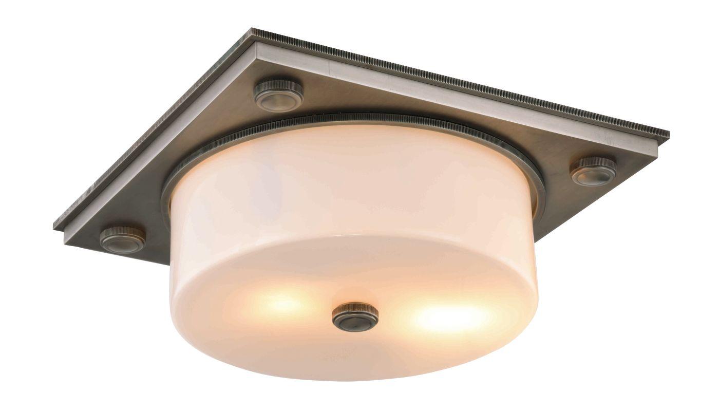 "Elegant Lighting 1480F13 Travis 2 Light 13"" Wide Flush Mount Ceiling"