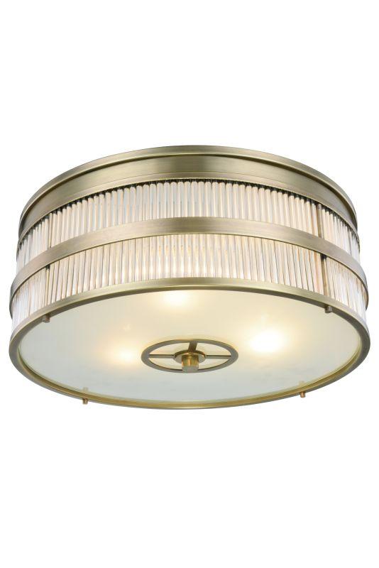 """Elegant Lighting 1481F13 Anjelica 2 Light 13"""" Wide Flush Mount Ceiling"""
