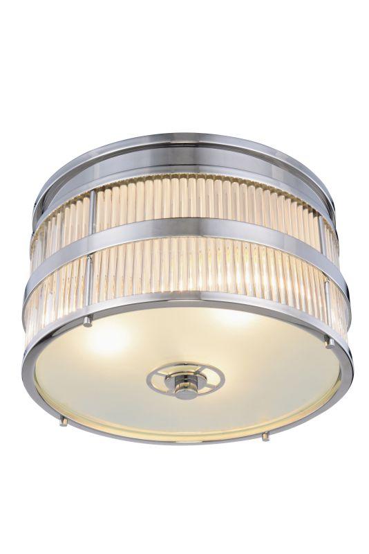 """Elegant Lighting 1481F18 Anjelica 2 Light 18"""" Wide Flush Mount Ceiling"""