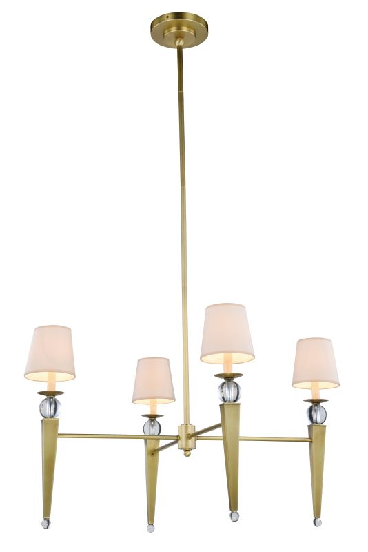 "Elegant Lighting 1489G36 Olympia 4 Light 36"" Wide Shaded Chandelier"