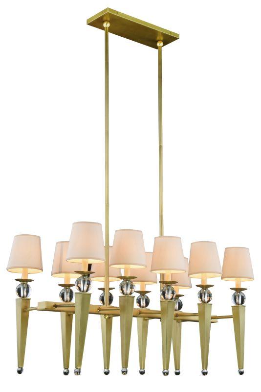 "Elegant Lighting 1489G38 Olympia 10 Light 38"" Wide Shaded Chandelier"