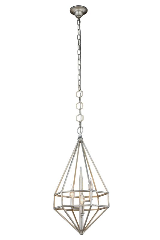 "Elegant Lighting 1492D14 Marquis 3 Light 14"" Wide Cage Style Pendant"