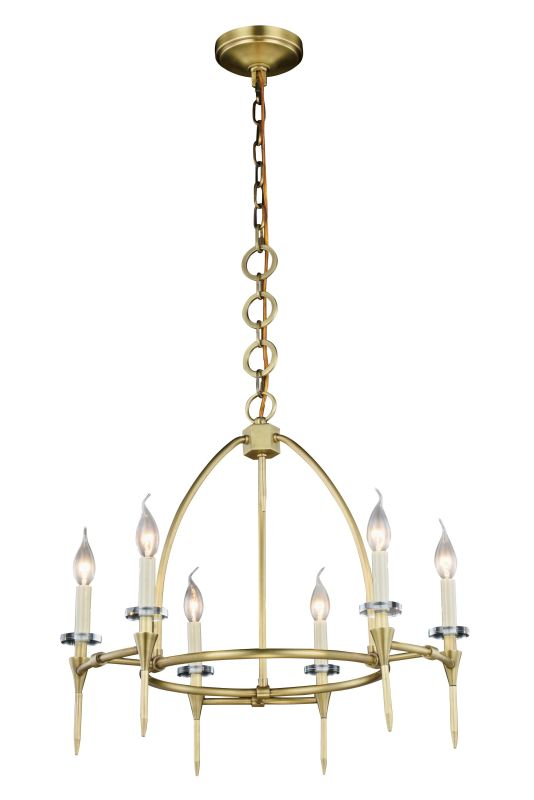 "Elegant Lighting 1499D24 Celtic 6 Light 24"" Wide Cage Style Chandelier"