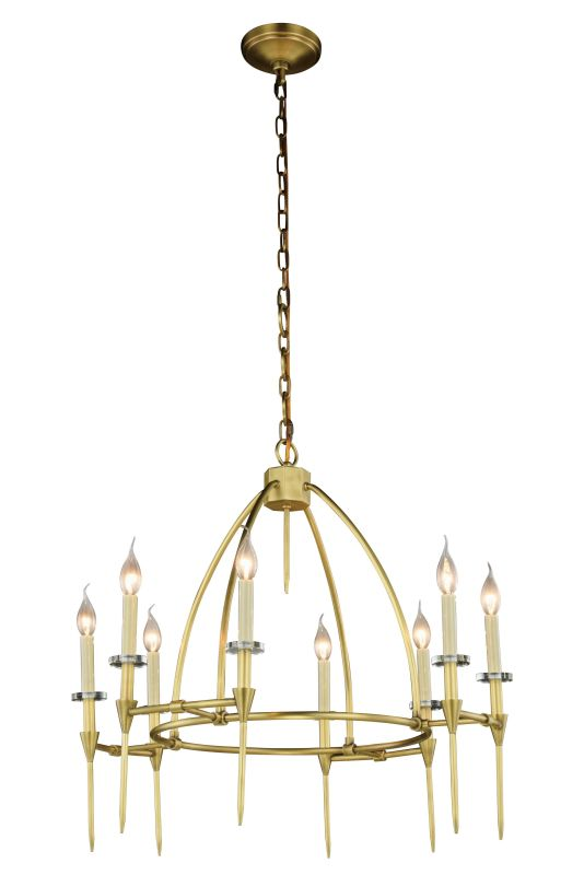 "Elegant Lighting 1499D30 Celtic 8 Light 30"" Wide Cage Style Chandelier"