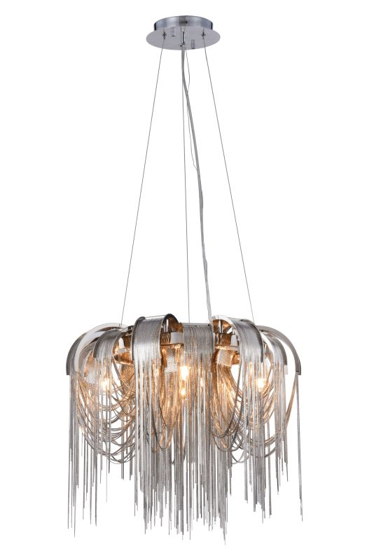 "Elegant Lighting 1505D18 Blythe 4 Light 18"" Wide Abstract Pendant with"