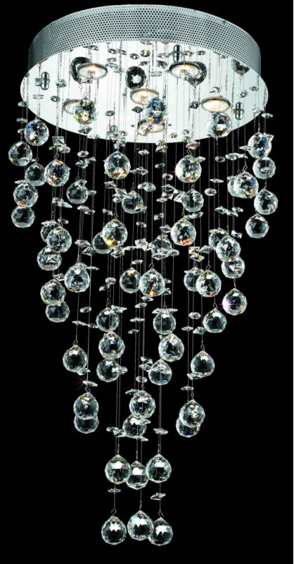 Elegant Lighting 2006D18C(LED) Galaxy 6-Light LED Single-Tier Crystal