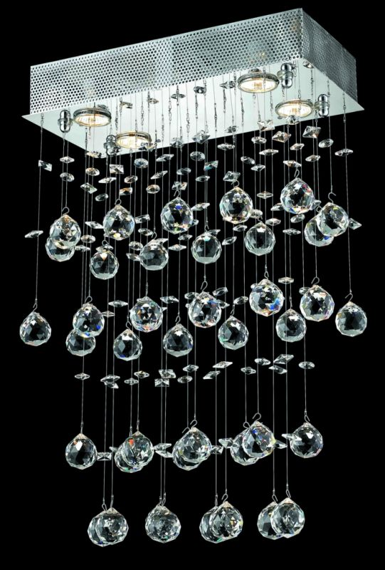 Elegant Lighting 2021D16C(LED) Galaxy 4-Light LED Single-Tier Crystal