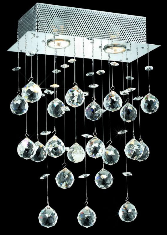Elegant Lighting 2021W12C(LED) Galaxy 2-Light LED Crystal Wall Sconce