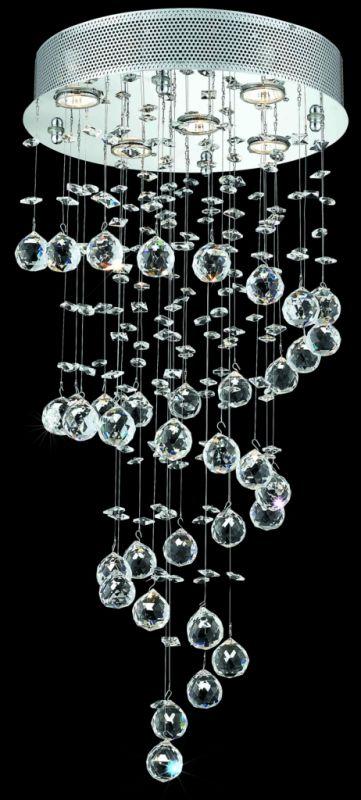 Elegant Lighting 2024D16C(LED) Galaxy 5-Light LED Single-Tier Crystal