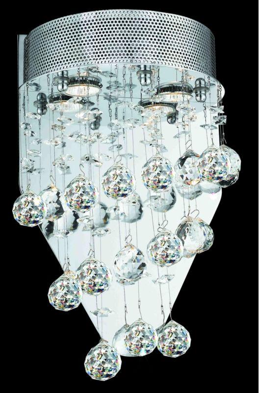 Elegant Lighting 2024W12C(LED) Galaxy 2-Light LED Crystal Wall Sconce