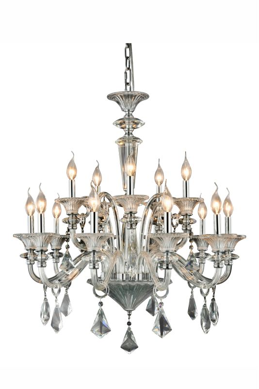 "Elegant Lighting 7871D34 Aurora 15 Light 32"" Wide 2 Tier Candle Style"