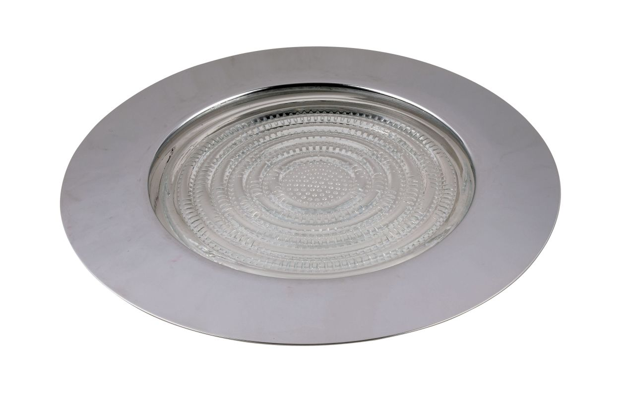 """Elegant Lighting RE13 Elitco 6"""" Recessed Shower Trim with Clear Glass"""