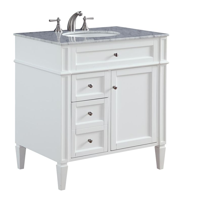 Elegant Lighting VF-1024 Park Ave 32 Inch Wide Free Standing Vanity Sale $632.00 ITEM: bci3009921 ID#:VF-1024 UPC: 848145086257 :