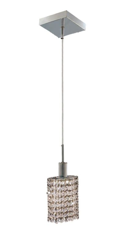 Elegant Lighting 1281D-S-E-CL Mini 1-Light Crystal Pendant Finished
